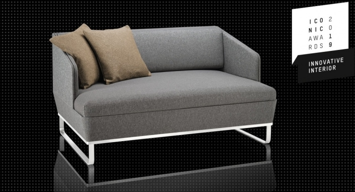 Das kompakte Schlafsofa Duetto-Deluxe von Swiss Plus erhält den Iconic Award 2019 Innovative Interior.