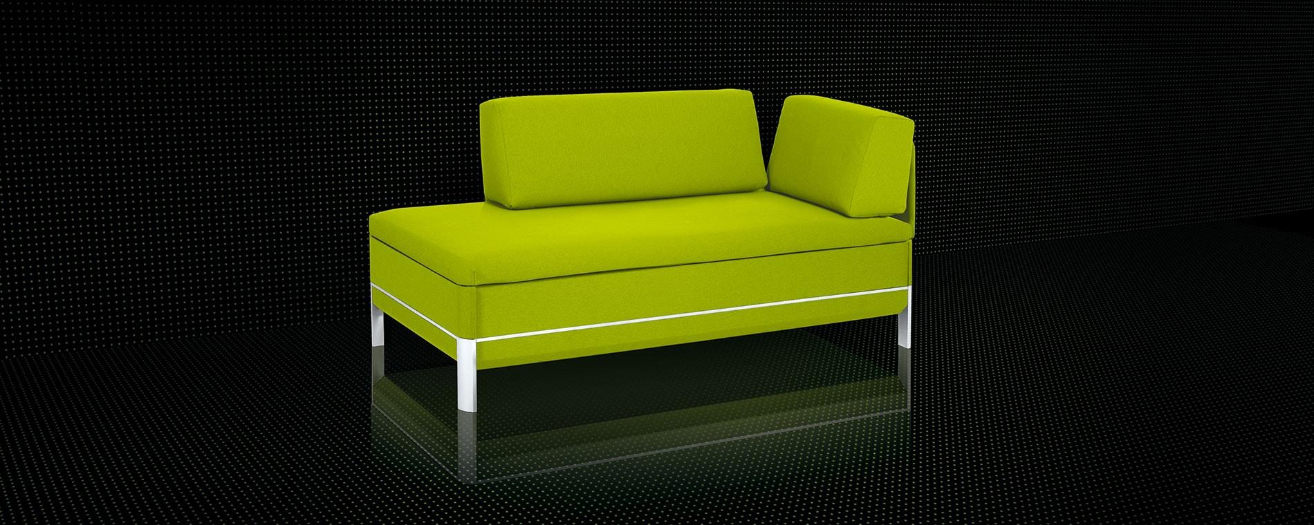 Das kompakte Doppelbettsofa Cento-60 von Swiss Plus in grün.